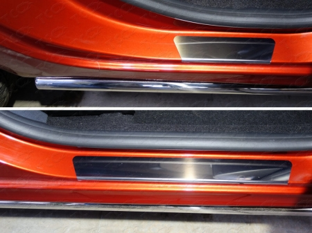 Lada XRAY(x-ray) 2016-Накладки на пороги (лист зеркальный)